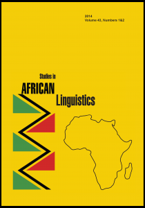 Kambon, Ọ., Osam, E. K., & Amfo, N. A. (2015). A Case for Revisiting Definitions of Serial Verb Constructions – Evidence from Akan Serial Verb Nominalization. Studies in African Linguistics, 44(2), 75-99. http://sal.research.pdx.edu/PDF/442Kambon.pdf