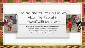 Akan ne Kiswahili
