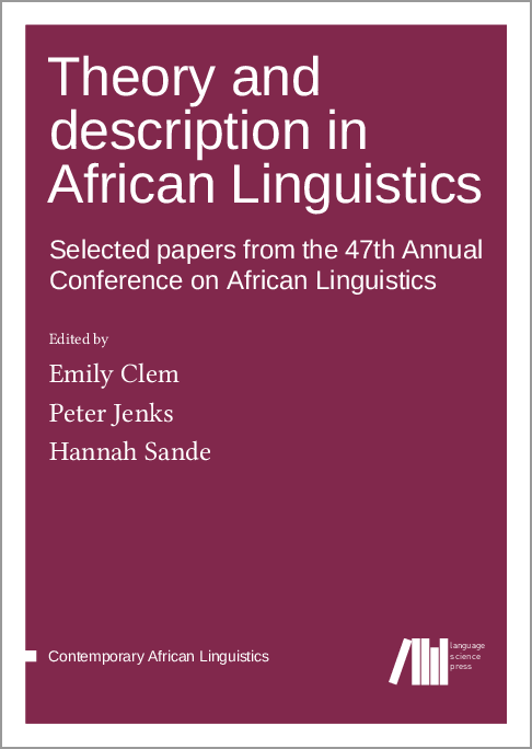 Theory and description in African Linguistics